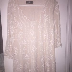 LULUS EMBROIDERED HEART DRESS